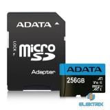 ADATA 256GB SD micro Premier (SDXC Class 10 UHS-I) (AUSDX256GUICL10A1-RA1) memória kártya adapterrel