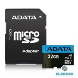 ADATA 32GB SD micro Premier (SDHC Class 10 UHS-I) (AUSDH32GUICL10A1-RA1) memória kártya adapterrel