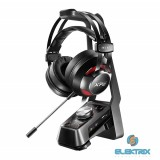 ADATA EMIX H30 Fekete Gamer Headset SOLOX F30 Virtuális 7.1 erősítővel