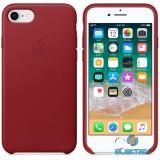 Apple iPhone 7/8 bőrtok piros