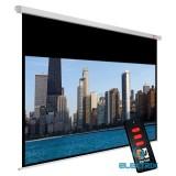 Avtek Cinema Electric 240 16:9 230x129,5cm matt fehér elektromos vetítővászon fekete kerettel