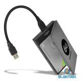 Axagon ADSA-1S6 USB 3.0 szürke külső SATA3 HDD/SSD ház