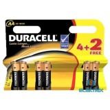 Duracell BSC 4+2 db AA elem