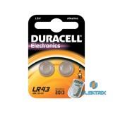Duracell LR43 (V12GA) fotó és kalkulátor elem 2db/bliszter