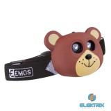 Emos P3525 medve gyerek fejlámpa