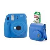 Fujifilm Instax Mini 9 sötétkék + tok + film analóg fényképezőgép kit