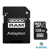 GOODRAM 128GB SD micro (SDXC Class 10 UHS-I) (M1AA-1280R11) memória kártya adapterrel