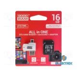 GOODRAM 16GB SD micro (SDHC Class 10 UHS-I) (M1A4-0160R11) All in 1 memória kártya + kártyaolvasó