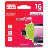 GOODRAM 16GB SD micro (SDHC Class 10 UHS-I V10) (M1A0-0160R11-A1) Android memória kártya