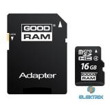 GOODRAM 16GB SD micro (SDHC Class 4) (M40A-0160R11) memória kártya adapterrel