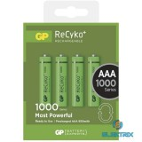 GP ReCyko+ AAA (HR03) 1000mAh akku 4db/bliszter
