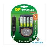 GP H500 2órás gyorstöltő + 4 db 2100 mAh AA recyko akku
