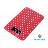 Kalorik EKS1005RWD Country Dots digitális piros-fehér pöttyös konyhamérleg