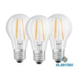 OSRAM Base átlátszó üveg búra/7W/806lm/2700K/E27/dobozos LED körte izzó 3 db