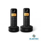 Philips D1302B/53 DUO DECT vezeték nélküli telefon