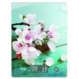 Scarlett SCKS57P20 cseresznyevirág mintás konyhai mérleg