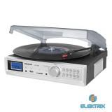 Sencor STT 211 U fekete FM rádiós, USB csatlakozós lemezjátszó