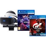 Sony PlayStation 4 VR 3D virtuális szemüveg + kamera + VR Worlds + GT Sport játékok