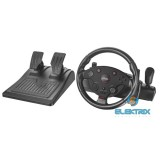 Trust GXT288 Force Vibration Steering Wheel PC/PS3 gamer kormány + pedál