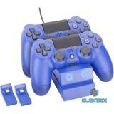 Venom VS2738 PS4 kék dupla töltőállomás