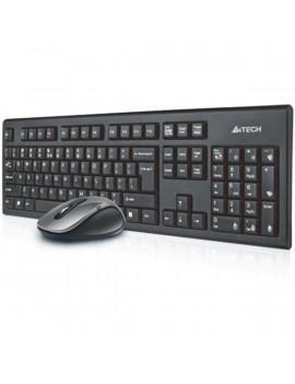 A4-Tech 7100N HUN fekete vezeték nélküli billentyűzet + egér