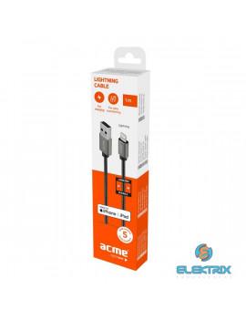 ACME CB2021G Premium 1m MFI Lighting asztroszürke fonott kábel