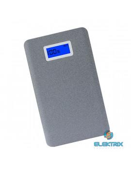 AWEI P83K 10000mAh/2XUSB/LCD kijelzővel/alumínium/szürke powerbank