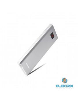 AWEI P91K 8000mAh/LCD kijelzővel/elegáns/fémházas/ezüst powerbank