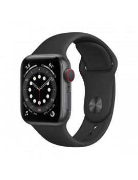 Apple Watch Series 6 GPS + Cellular 40mm asztroszürke alumíniumtok fekete sportszíjas okosóra