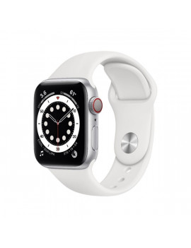 Apple Watch Series 6 GPS + Cellular 40mm ezüst alumíniumtok fehér sportszíjas okosóra