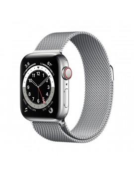 Apple Watch Series 6 GPS + Cellular 40mm ezüst rozsdamentes acél tok ezüst milánói szíjas okosóra