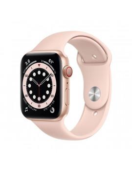 Apple Watch Series 6 GPS + Cellular 44mm arany alumíniumtok rózsakvarc sportszíjas okosóra