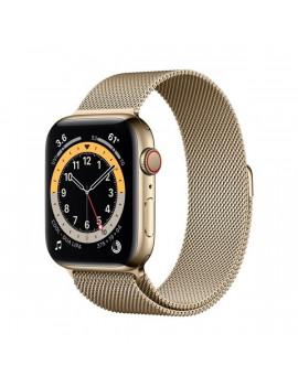 Apple Watch Series 6 GPS + Cellular 44mm arany rozsdamentes acél tok arany milánói szíjas okosóra