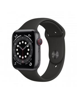 Apple Watch Series 6 GPS + Cellular 44mm asztroszürke alumíniumtok fekete sportszíjas okosóra