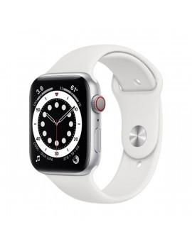 Apple Watch Series 6 GPS + Cellular 44mm ezüst alumíniumtok fehér sportszíjas okosóra