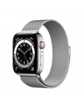 Apple Watch Series 6 GPS + Cellular 44mm ezüst rozsdamentes acél tok ezüst milánói szíjas okosóra