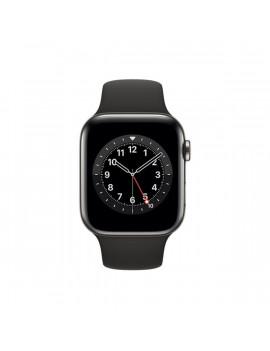 Apple Watch Series 6 GPS + Cellular 44mm grafit rozsdamentes acél tok fekete sportszíjas okosóra