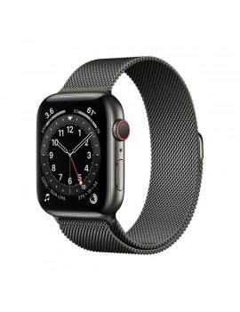 Apple Watch Series 6 GPS + Cellular 44mm grafit rozsdamentes acél tok grafit milánói szíjas okosóra