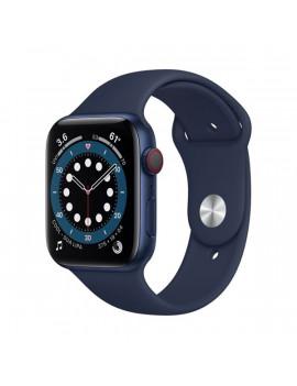 Apple Watch Series 6 GPS + Cellular 44mm kék alumíniumtok tengerészkék sportszíjas okosóra