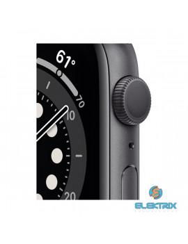 Apple Watch Series 6 GPS-es 44mm asztroszürke alumíniumtok fekete sportszíjas okosóra