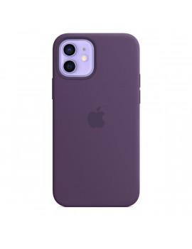 Apple iPhone 12/12 Pro ametiszt MagSafe szilikon tok