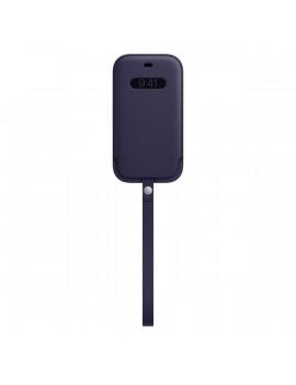 Apple iPhone 12/12 Pro lila MagSafe bőr tok