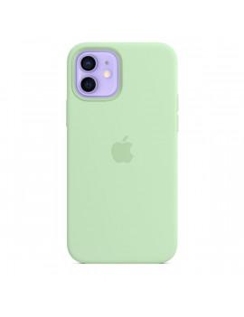 Apple iPhone 12/12 Pro pisztácia MagSafe szilikon tok
