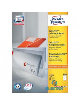 Avery 3660 QP 97×67,7mm univerzális 800db-os etikett