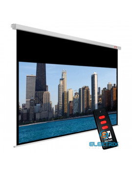 Avtek Video Electric 300P 4:3 290x217.5cm matt fehér elektromos vetítővászon fekete kerettel