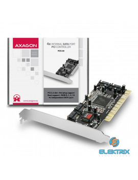 Axagon PCIS-50 4 db belső SATAI portos PCI kártya