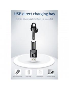Baseus Magnetic Bluetooth mágneses fekete headset USB töltőállomással