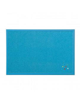 Bi-Office 40x60cm fakeretes kék parafatábla