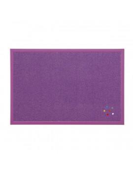 Bi-Office 40x60cm fakeretes lila parafatábla