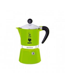 Bialetti Rainbow 3 személyes zöld kotyogós kávéfőző